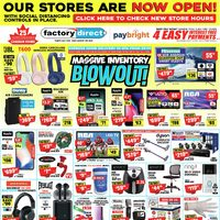 Factory Direct - Massive Inventory Blowout! Flyer