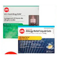 Life Brand 24hr Nasal, Allergy Relief Spray or Allergy Products