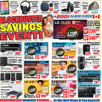 2001 Audio Video - Blockbuster Savings Event! Flyer