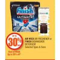 Air Wick Air Freshener Or Finish Dishwasher Detergent