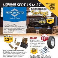 Princess Auto - 2 Week Sale - September Savings Flyer