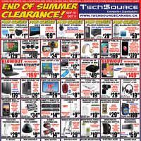 Tech Source - End Of Summer Clearance! Flyer