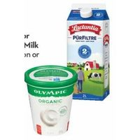 Lactantia Purfiltre or Beatrice Chocolate Milk or Olympic Organic or Krema Yogurt