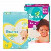 Pampers Jumbo Swaddlers or Cruisers Diapers