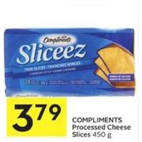 Compliments Processed Cheese Slices