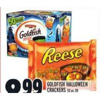 Goldfish Halloween Crackers or Hershey's Reese Snack Size Chocolate