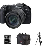 EOS RP Mirrorless Digital Camera With 24-105mm RF-STM Lens Kit Tripod, 128GB Memory Card And Canon 700SR DSLR System Bag