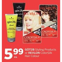 Got2b Styling Products or Revlon Colorsilk Hair Colour