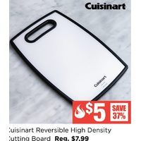 "Cuisinart Reversible High Density Cutting Board 11.8"" X 7.9"" Black/white"