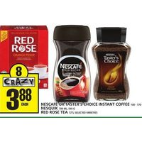 Nescafe or Taster's Choice Instant Coffee Nesquik Red Rose Tea