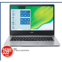 "Acer 14"" AMD 4/125GB Notebook"