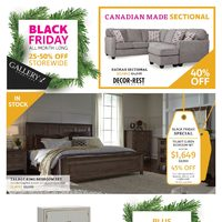 Gallery 1 Furniture - Black Friday Sale Flyer