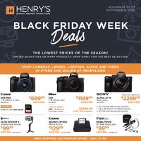 Henry's - Black Friday Week Deals Flyer