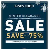 Linen Chest - Winter Clearance Sale Flyer