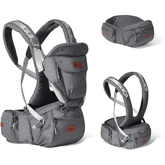 4. Best All-in-One: Sunveno Baby Hipseat Ergonomic Baby Carrier