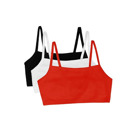 4. Best Low Support: Fruit of the Loom Women's Spaghetti Strap Cotton Pullover Sports Bra