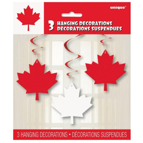 """7. Best Canada Day Party Décor: 26"""" Hanging Canada Day Leaf Decorations, 3ct"""