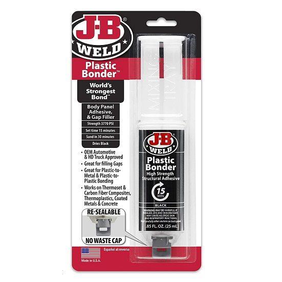 2. Runner Up: J-B Weld 50139 Plastic Bonder Body Panel Adhesive and Gap Filler Syringe