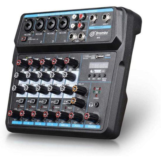 8. Honourable Mention: D Debra M6 Mini Audio Mixer