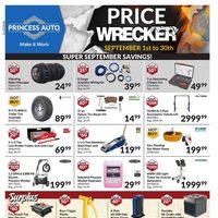 Princess Auto - Price Wrecker - Super September Savings! Flyer