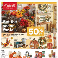 Michaels - Weekly Deals - Set The Scene For Fall Flyer
