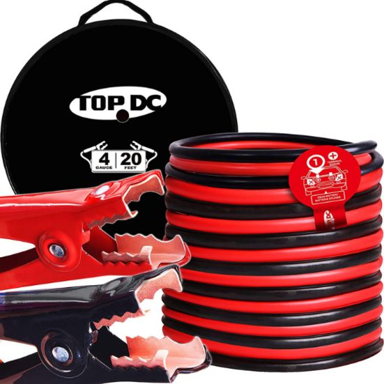 2. Best Runner Up: TOPDC Jumper Cables 4 Gauge 20 Feet