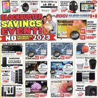 2001 Audio Video - Weekly Deals - Blockbuster Savings Event! Flyer