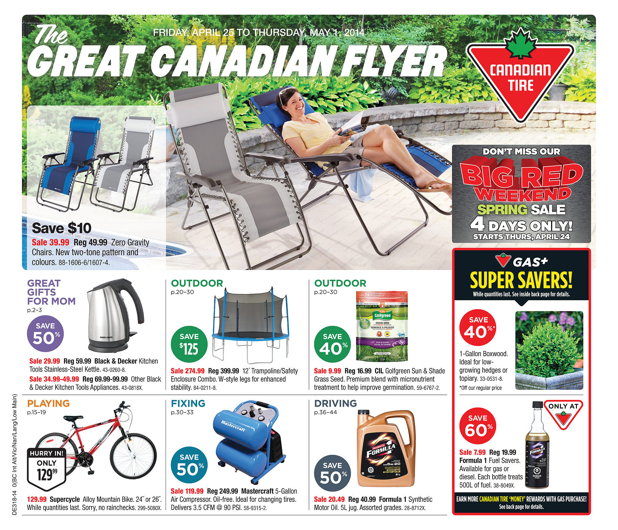 canadian tire weekly flyer weekly flyer apr 25 may 1