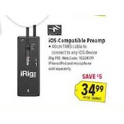 a796a716ac9 Best Buy: Irig Pre Xlr Microphone Interface For Ios Devices - $34.99 ...