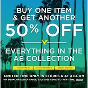 American Eagle: BOGO 50% Off + Free Shipping (Today Only!)