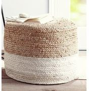 Hometrends Two-Toned Pouf - $59.97
