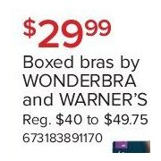 Boxed Bras by Wonderbra and Warner's - 3 Days Only - $9.99