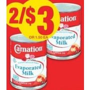 Carnation Evaporated Milk - 2/$3.00