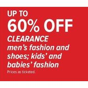 Clearance Men's Fashion & Shoes; Kids' & Babies' Fashion  - Up To 60% off