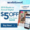 $5.00 Off the 2018 Entertainment Books + Free Shipping