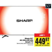 Sharp 50' 4K Ultra HD LED Smart TV  - $449.97