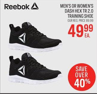 Sport Chek Reebok Men s Or Women s Dash Hex TR 2.0 Training Shoe -  49.99  (40% off) Reebok Men s Or Women s Dash Hex TR 2.0 Training Shoe 9cf649d41