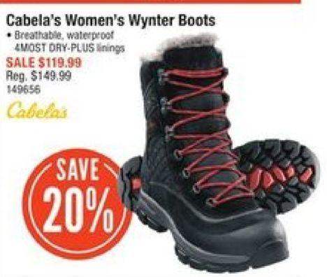 cf34cfd7f2f Cabelas Cabela s Women s Wynter Boots -  119.99 (20% off) Cabela s Women s  Wynter Boots