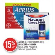 15% Off Nasacort or Salinex Nasal Care Products