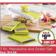 KSP All In 1 Mandoline Slicer and Grater - Set of 7 - $9.99 (33% off)