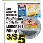 Colemans: Handi Foil Pie Plates Or Shirriff Lemon Pie