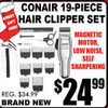 Conair 19-Piece Hair Clipper Set - $24.99