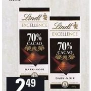 Lindt Excellence Chocolate - $2.49