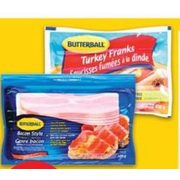 Butterball Turkey Franks or Turkey Style Bacon - $2.97