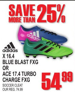 purchase cheap f7d52 9f095 National Sports Adidas Blue Blast FXG Or ACE Turbo Charge FXG Soccer Cleat  - 54.99 (25% off) Adidas Blue Blast FXG Or ACE Turbo Charge FXG Soccer  Cleat