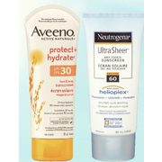 Aveeno Protect+hydrate or Neutrogena Ultra Sheer Sun Care  - $12.99