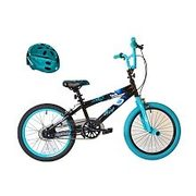 Avigo Vampire Bike with Teal Chrome Helmet - 18 inch - $119.97