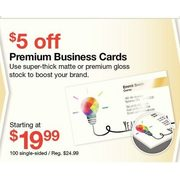 Premium Business Cards  - Starting at $19.99  ($5.00 off)