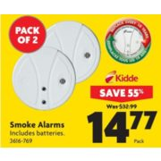 Smoke Alarms - $14.77 (55% Off)