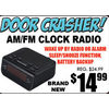 AM/FM Clock Radio - $14.99